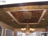 Gold leaf moldings, multi-level ceiling, Roslyn