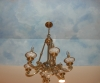 Handpainted clouds, master bath ceiling