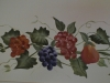 Handpainted fruit border