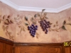 Handpainted grapes and leaves over faux finish