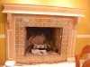 Wood fireplace mantle