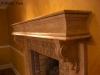 Wood fireplace mantle -- plaster