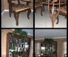 Country green furniture becomes rich brown wood