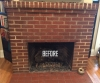 Brick Fireplace BEFORE