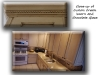 Off white cabinets with chocolate brown glaze