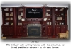 Customized wall unit, woodgrain mahogany