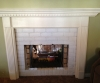 BEFORE -- painted bricks and mantle