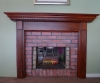 Faux painted bricks and Mantle