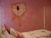 ballerina mural on faux finish