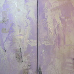Lavender diptych two 14x18