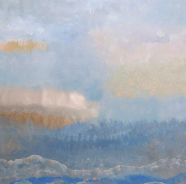 BLUE FIELD, 48 x 48