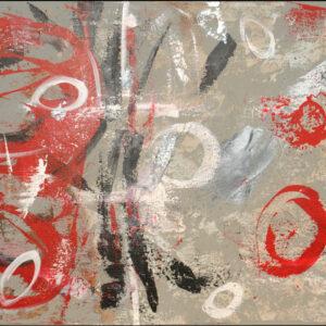 red graffiti 24 x 36
