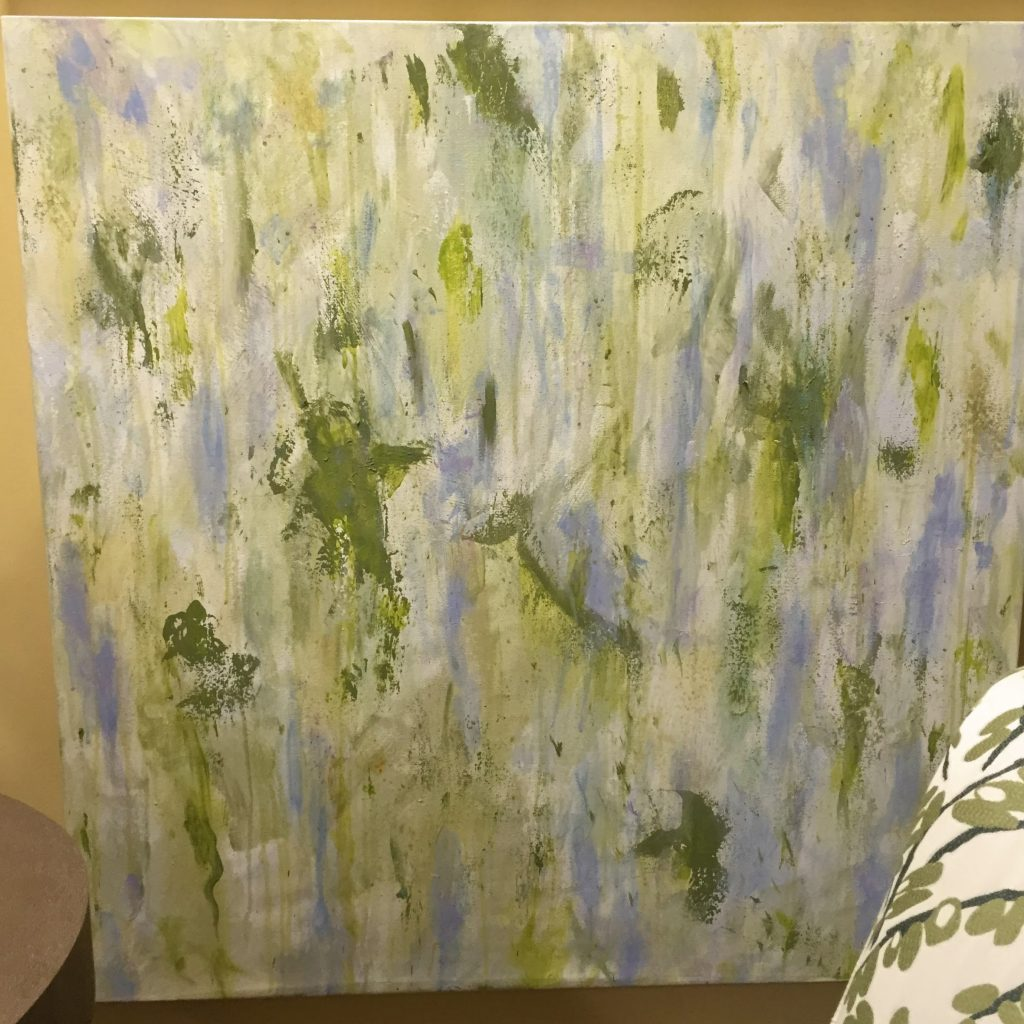 Tailored Moss, 36 x 36  Moss and Periwinkle