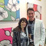 HGTV Star David Bromstad and Debbie Viola at NY Art Expo