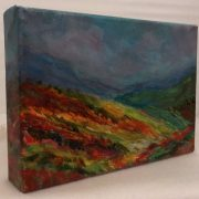 5x7 Contemporary landscape painting by Debbie Viola