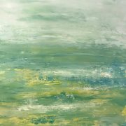 Lime Lovely 1, Abstract Seascape by Debbie Viol