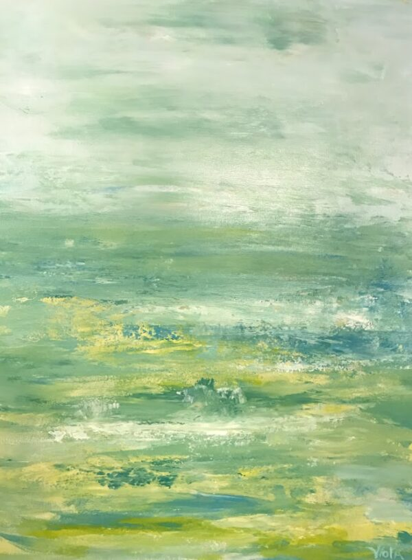 Lime Lovely 1, Abstract Seascape