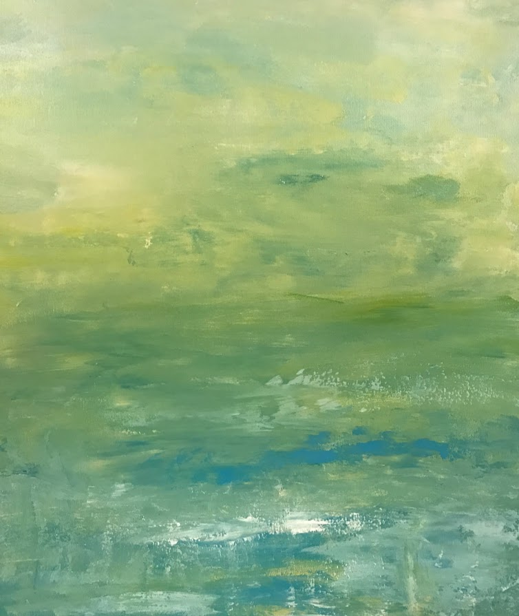 LIME LOVELY 2 18X24 ABSTRACT SEASCAPE