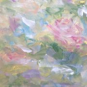 Abstract floral painting by Debbie Viola