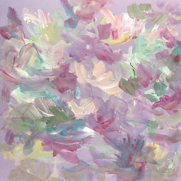 #14, 12×12 Lavender Shades AbstractbyDebbieViola
