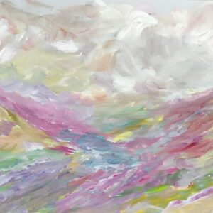 Cloudy Mountains on a Clear Day, abstract landscape
