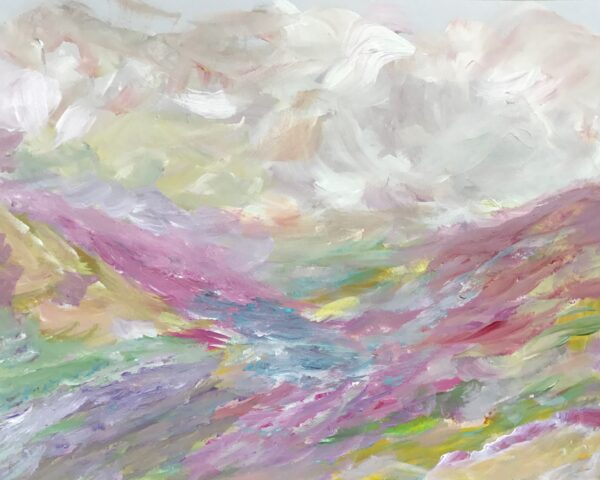 15,8×10, Cloudy Mountains AbstractLandscapebyDebbieViola