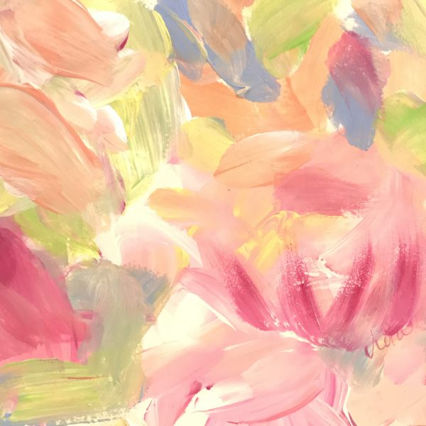 DAY4 Daily Painting 5×7 Floral Abstract by Debbie Viola