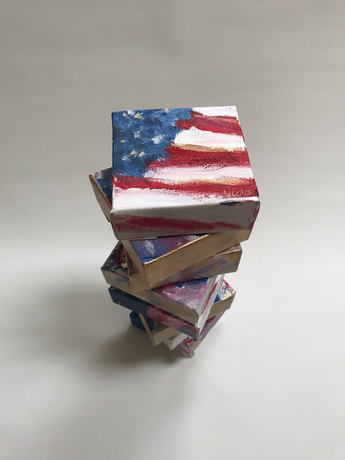 Stack of Flags by Debbie Viola