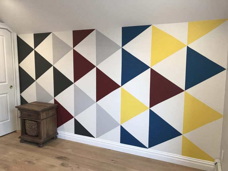 BANNER - KIDS ROOM - TRIANGLES-