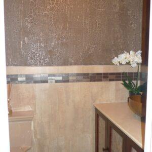 BATHROOM CRACKLE WALLS