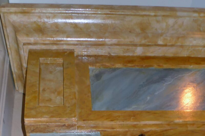 ECLECTIC PROJECT - FAUX MARBLE MARBLE CLOSEUP