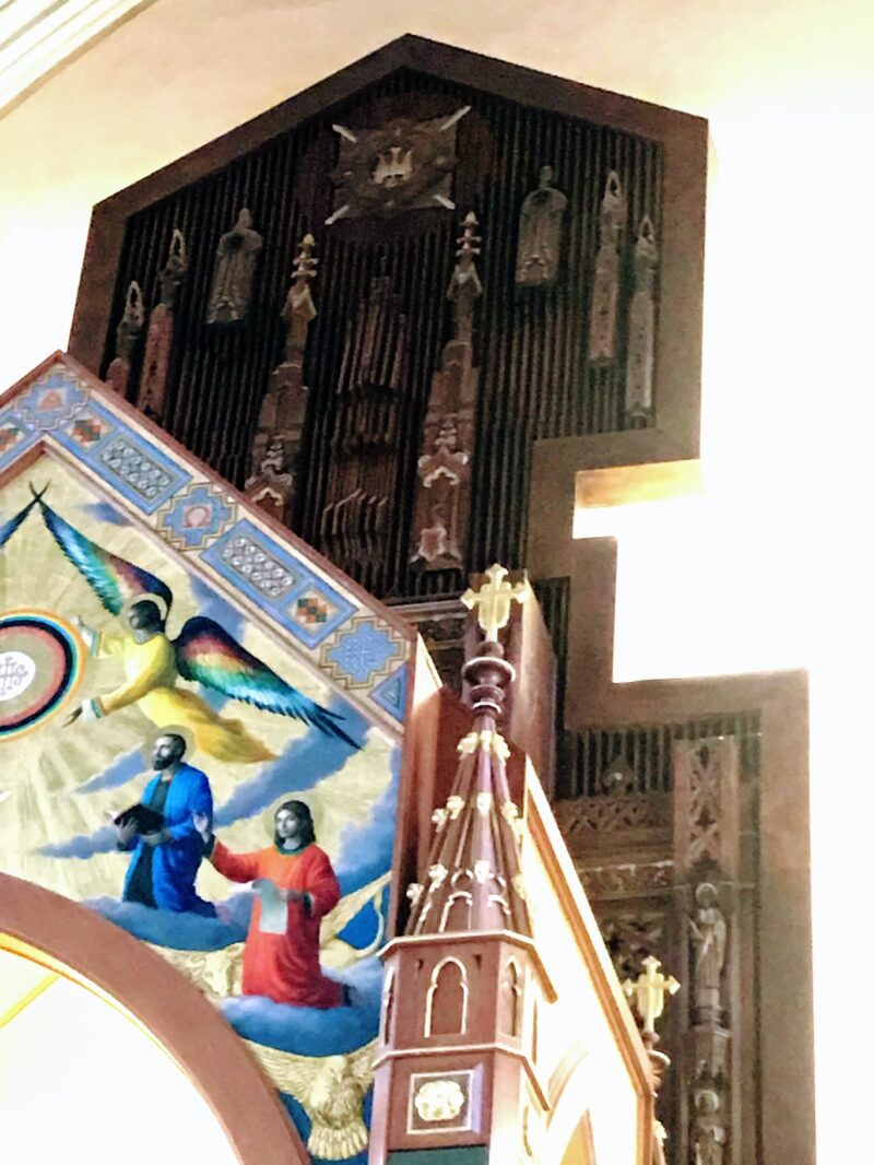 ECLECTIC PROJECT - SAINT AGNES CATHEDRAL FINISHED WOODGRAIN BY DEBBIE VIOLA