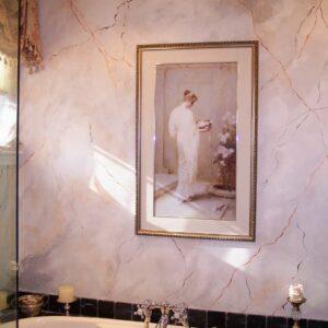 WALLS - FAUX MARBLE BATHROOM BY DEBBIE VIOLA
