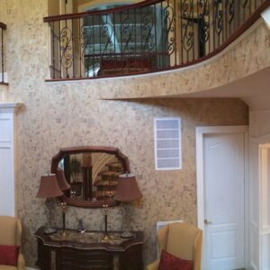WALLS - SHIMMERED PLASTER WITH STENCIL BY DEBBIE VIOLA - LOCAL DECORATIVE PAINTING - MUTTONTOWN PROJECT
