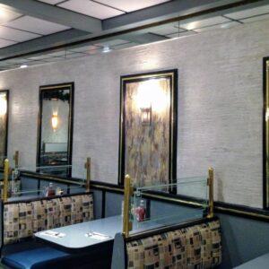 WALLS - gray venetian plaster malibu diner nyc by debbie viola