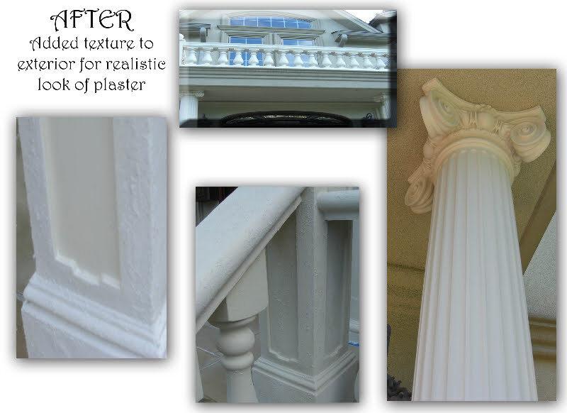 exterior ballustrade plaster by debbie viola