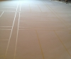 CONCRETE FLOOR - Microtopping applied, pattern taped