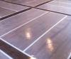 Sealer applied on concrete floor