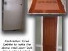 Steel door, faux woodgrain, raised panel
