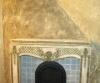 Aged, antiqued plastered mantle