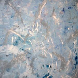 Swirls of blue and gray dance around