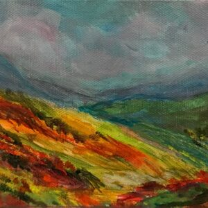 5x7 contemporary landscape painting
