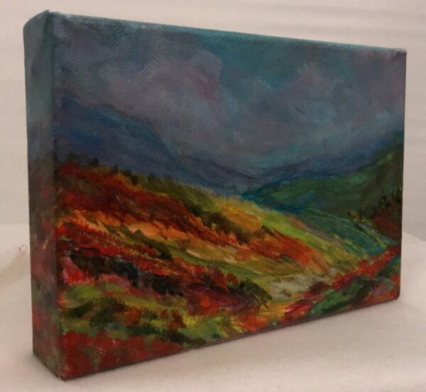 5x7 Contemporary landscape painting by Debbie Viola