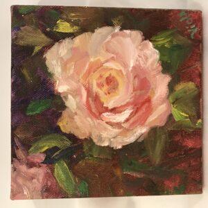 Rose Oil Painting by Debbie Viola