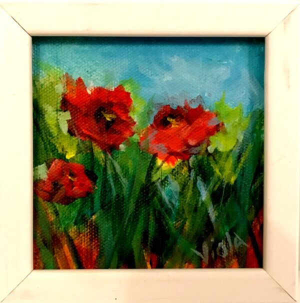 Pansies painting by Debbie Viola