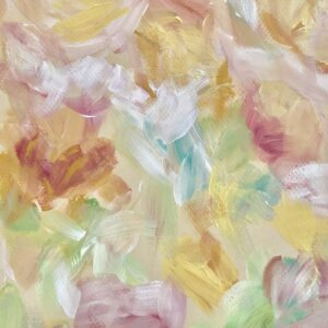 SOFT STROKES, 8x10, abstract impressionism, floral painting, acrylics on paper, ready to frame