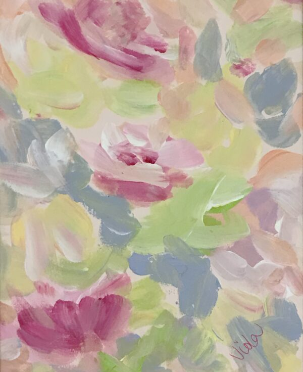 8x10 Floral painting