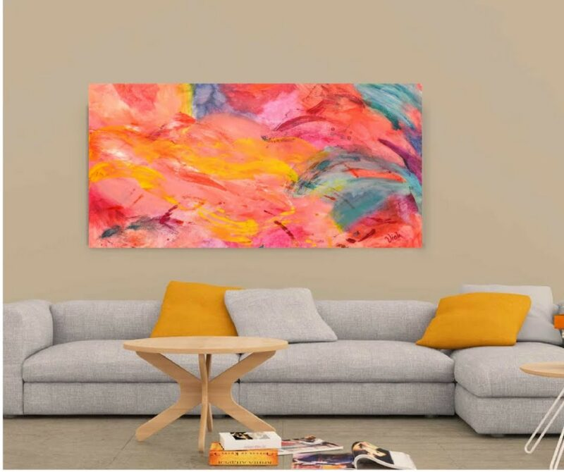 ART - ABSTRACT PSYCHEDELIC ART PINK BY DEBBIE VIOLA
