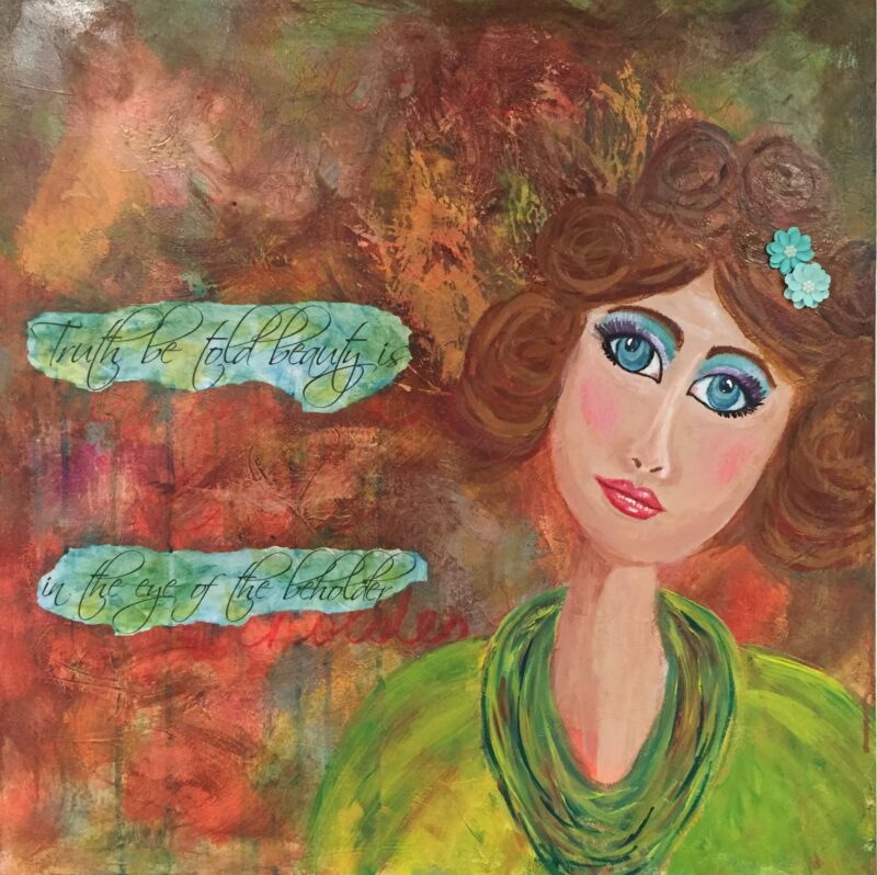 ART-BEAUTY IS IN THE EYES OF THE BEHOLDER LADY FACE BY DEBBIE VIOLA FirstSpiritWingsNassauCounty