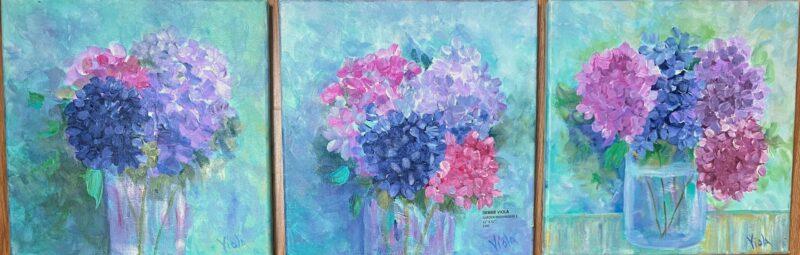 ART - HYDRANGEAS IMPRESSIONISM BY DEBBIE VIOLA